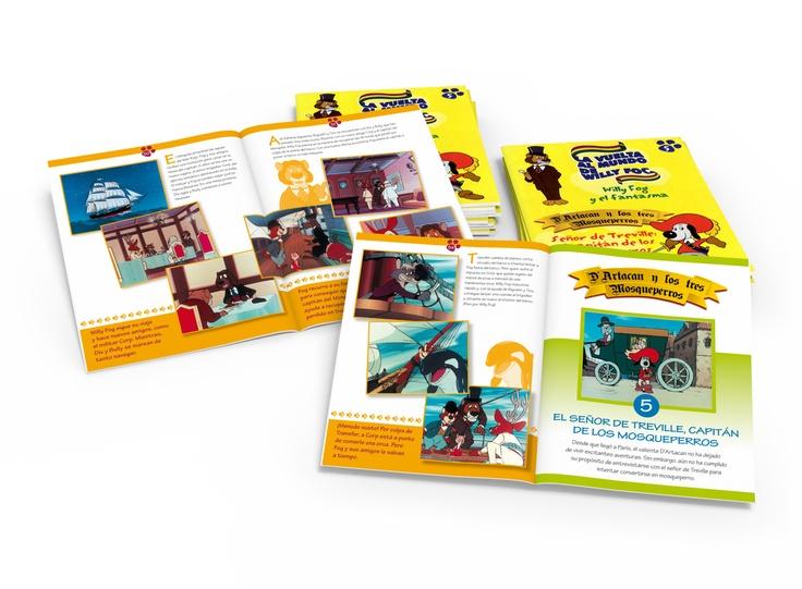 FASCICLES (INFANTILS): La vuelta al mundo de Willy Fog - D'Artacan y los tres Mosqueperros /  RBA Coleccionables / 2005 /  Disseny gràfic i maquetació /  52 fascicles de 16 pàgines (832 pàgines maquetades)