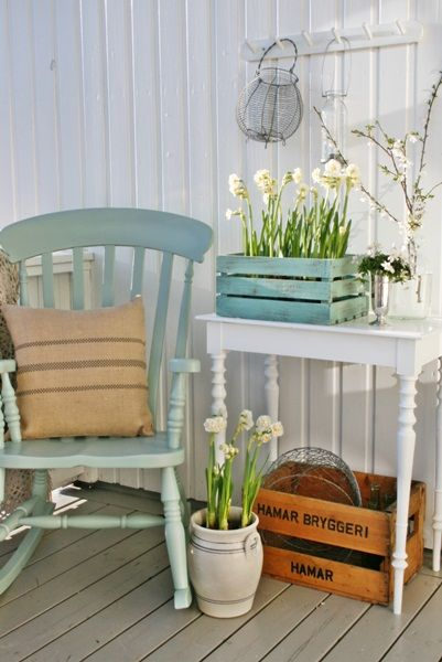 Love the rocking chair and the colours