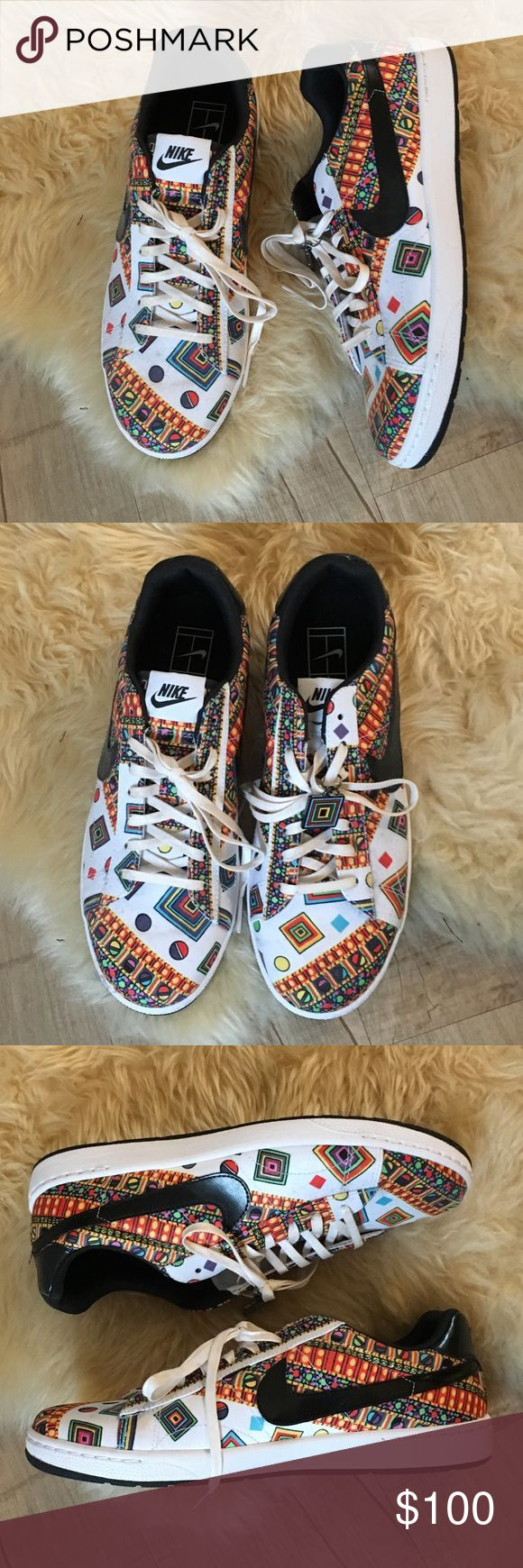 NWOB Nike Liberty Tennis Classic Ultra Leather NWOB LIMITED EDITION NIKE LIBERTY COLLECTION!!  I bought this as a collector's item (I LOVE ALLLL THINGS LIBERTY OF LONDON!), and I am sad to part ways with it but want to find them a good home.  NEVER USED!!!  Box is gone because I bought them on vacation. Nike Shoes Sneakers