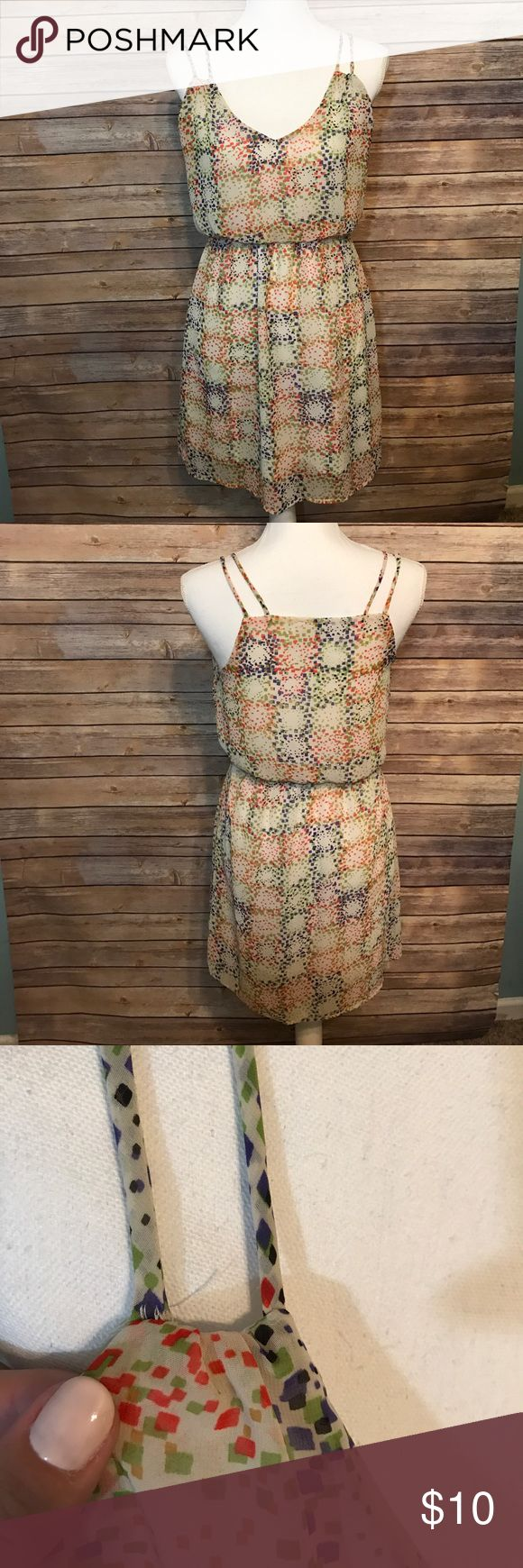 Wish Boutique Dress From Wish Boutique in New Orleans. Multicolor dress, great for summer! Threading on one of the straps seems to be coming a little loose. Wish Dresses