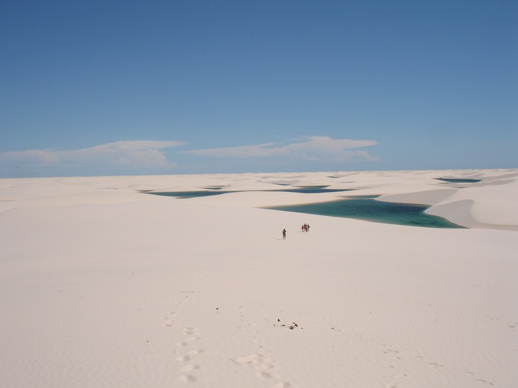 Lençóis Maranhenses National Park, in Brazil, is composed of large white dunes. Just outside the Amazon, the park receives rain early in the year, which collects in the valleys between the dunes for much of the year.: Maranhen National, White Dune, 1024Px Lencoi Maranhens 8 Jpg, Brazil, National Parks, Dos Lençói, Northeastern Brazil, Lençói Maranhen, File Lencoi Maranhen