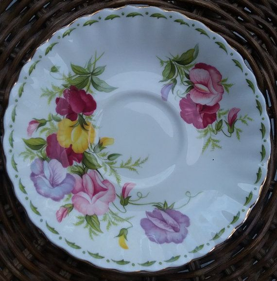 Royal Albert Sweet Pea Replacement Saucer Royal Albert Flower