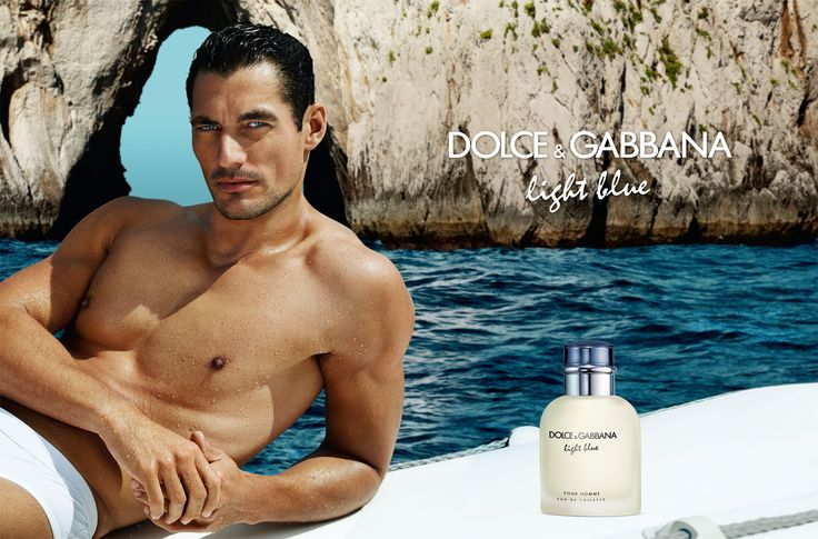 Dolce Light Blue Ad Campaign with David Gandy Perfume for Men