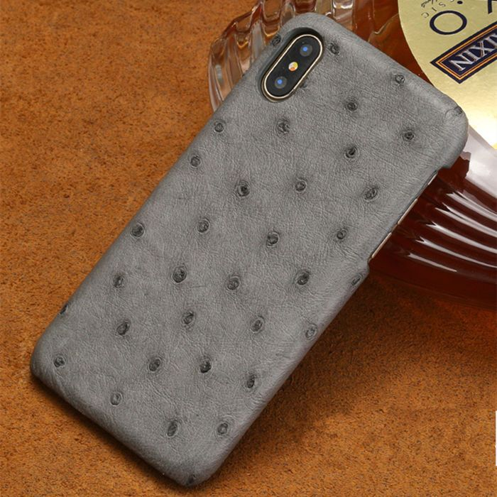 new style 5af38 ce798 Ostrich iPhone XS Max, XS, X Case, iPhone XS Max, XS, X Ostrich Skin ...