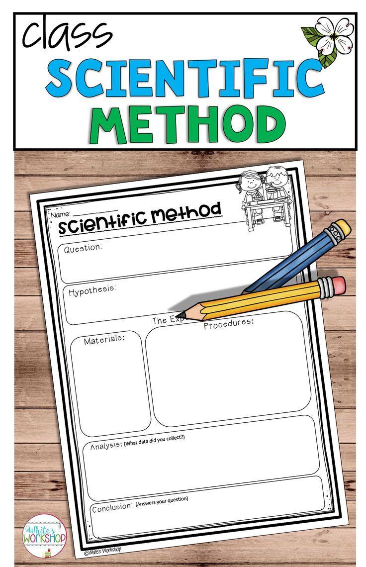 Scientific Method Posters And Worksheets Scientific Method Worksheet Scientific Method Scientific Method Posters