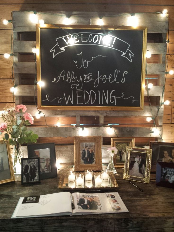 This is a good idea to set up in the sitting room. A guest book for everyone to sign x
