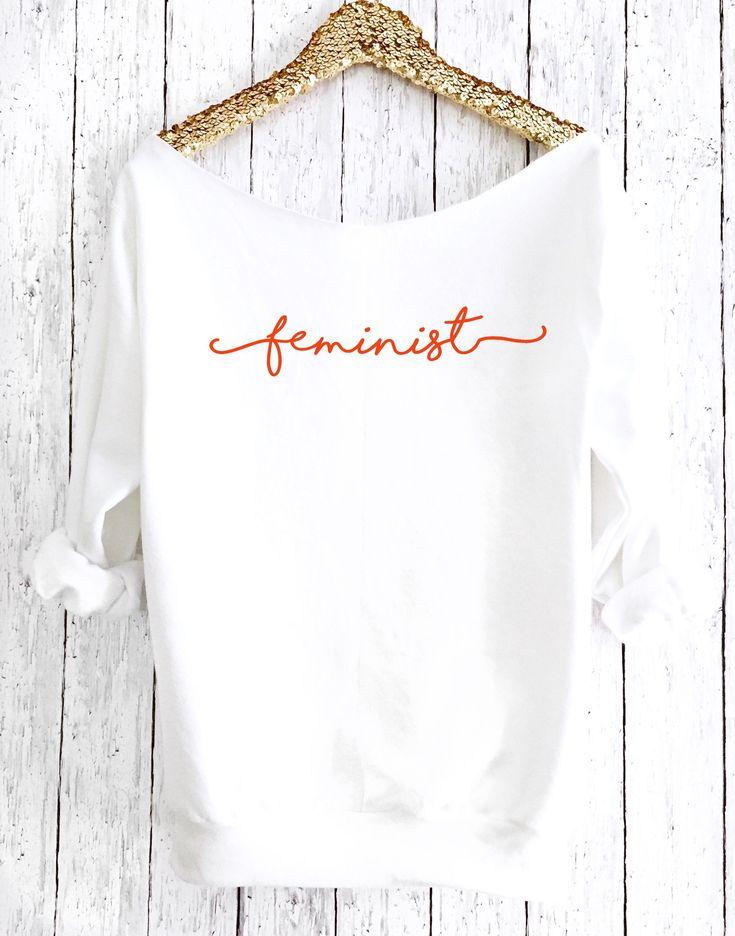 Féministe outre du chandail d'épaule, chemise de mars des hommes, cadeau féministe, sweat-shirt d'entraînement drôle, l'avenir est top féminin