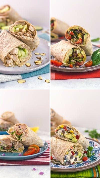 From honey sesame chicken and zucchini with hummus, to tuna salad and Tex-Mex chicken, these nutritious wraps are packed with flavor.