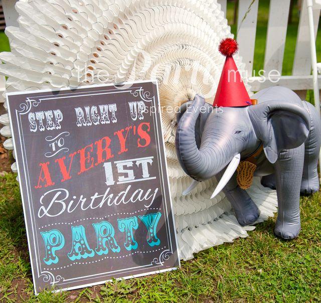 "Vintage Circus / Birthday ""Vintage Circus 1st Birthday""   Catch My Party"