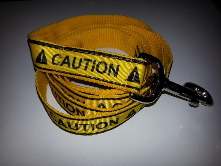 """1"""" Caution Dog Leash. $18.00 Great for those dogs who show aggression towards other dogs or people while out on walks."""
