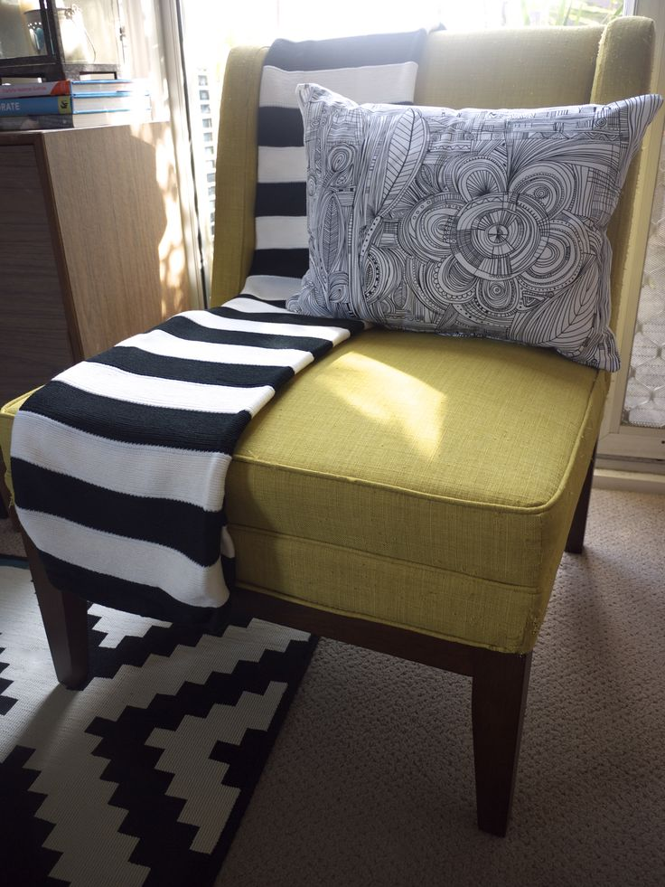 IKEA Winter Living Room Makeover - Armchair and Cushion