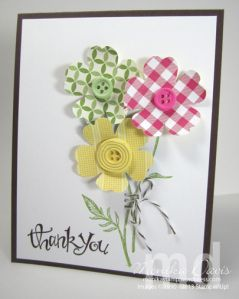 Stampin' Up! - Simply Pressed Clay (includes tips on using the clay and molds) - button molds, Field Flowers, stitching with Baker's Twine - Monika Davis