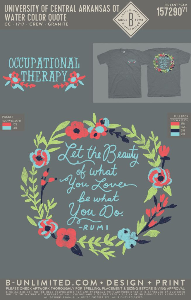 Occupational Therapy T Shirt Super CUTE! Will be Ordering!!
