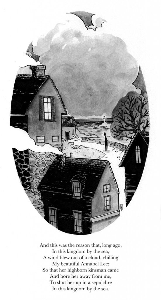 Stanza 03 - Illustrated version of Edgar Allan Poe's short poem, Annabel Lee. illustrated by Greg Hinkle