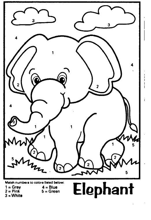 Schede didattiche del maestro fabio per la scuola primaria - Colore per numeri per i bambini ...