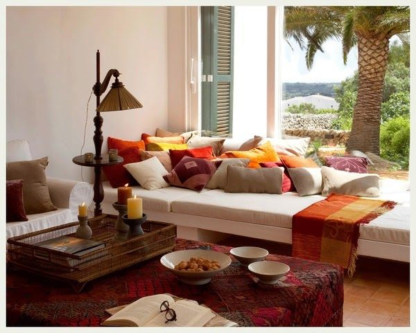 Creative And Inspirational Indian Living Room Decorating Ideas With Colorful Pillow Design