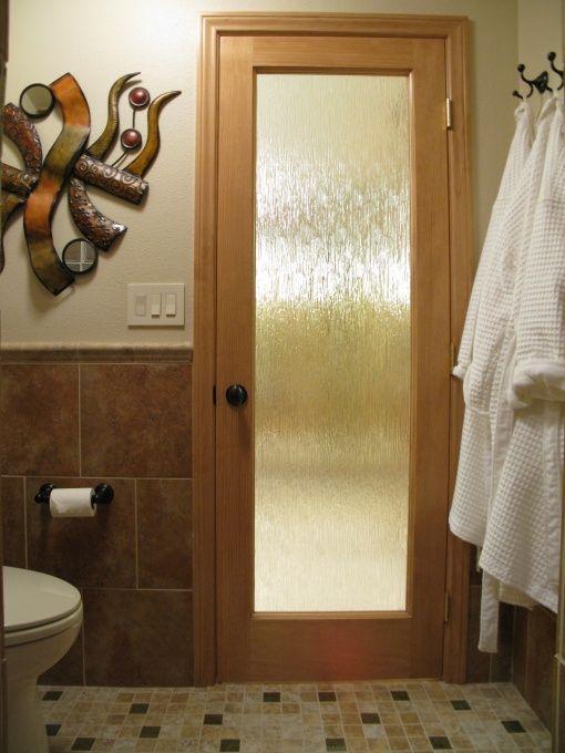 g wood framed glass privacy door glass block shower divide for the home pinterest glass. Black Bedroom Furniture Sets. Home Design Ideas
