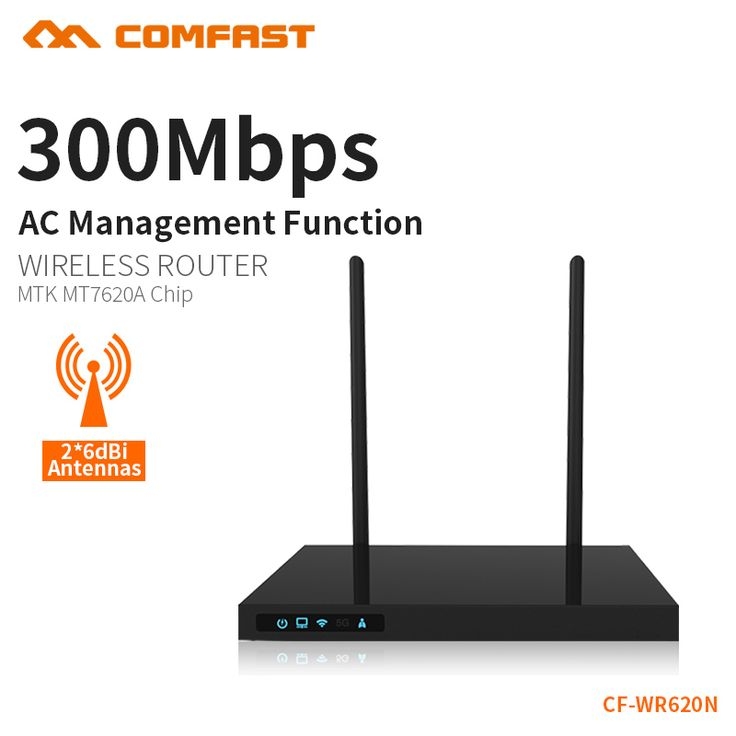 COMFAST 300mbps wireless router wi-fi range extender repetidor wifi amplifier access point dual 7dbi antenna CF-WR620N #Affiliate