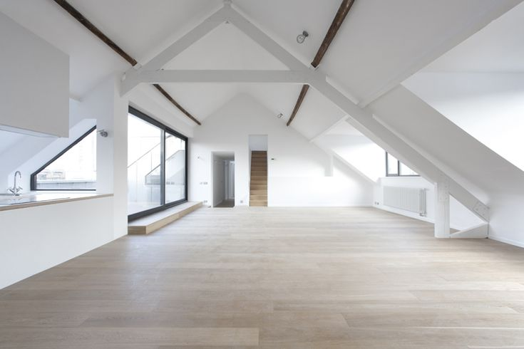 Boris Apartment  Lhoas  Lhoas - Would love to use my future attic space like this!