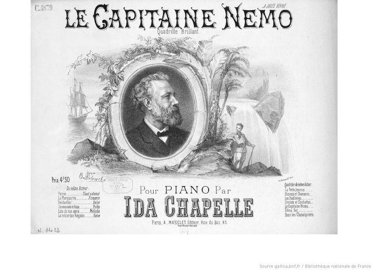 Le capitaine Nemo : quadrille brillant : pour piano / par Ida Chapelle ; [ill. par] B. Delaroche