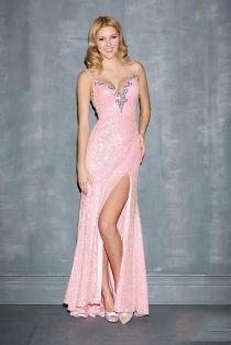 Pink sparkly prom dress uk