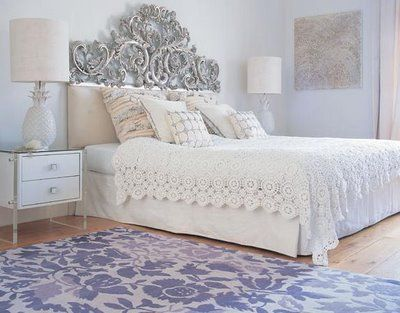 Purple Bedroom Ideas: Dreams Bedrooms, Bedrooms Makeovers, Vintage Bedrooms, White Bedrooms, Classic White, Master Bedrooms, Beds Frames,  Day Beds, Chic Bedrooms