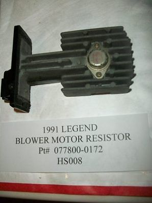 awesome 1991 ACURA LEGEND BLOWER MOTOR SPEED TRANSISTOR RESISTOR HEAT 077800-0172 #HS008 - For Sale View more at http://shipperscentral.com/wp/product/1991-acura-legend-blower-motor-speed-transistor-resistor-heat-077800-0172-hs008-for-sale/