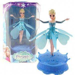 Flying Frozen | Mainan Anak Online Boneka Frozen cantik yang dapat terbang, dilengkapi dengan pelontar yang di operasikan dengan tenaga bateray AA 6pcs. Boneka frozen dengan bateray charge. dilengkapi dengan cable usb untuk charge dari laptop. Jika tidak di gunakan dapat di jadikan boneka pajangan yang cantik.  Berat Kirim 1kg