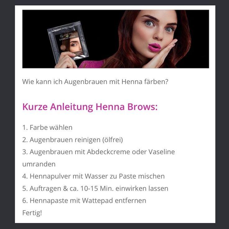Henna Brows Anleitung Henna Augenbrauen Augenbrauen Henna
