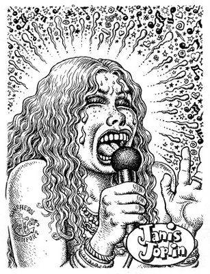 joplin r crumb drawing by r crumb in 1969