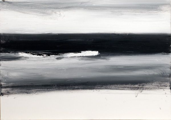 John Virtue: North Sea Paintings and Monotypes @ Marlborough Fine Art - Eloge de l'Art par Alain Truong
