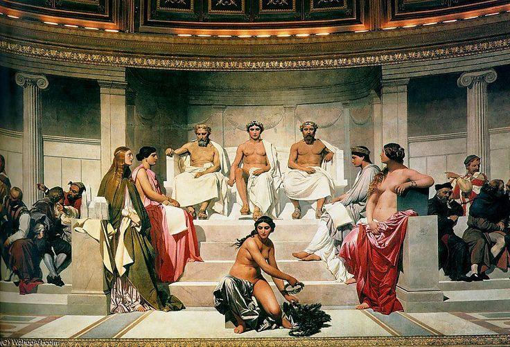 Hemicycle of the Ecole des Beaux-Arts (1814), 1814 by Paul Delaroche (Hippolyte Delaroche) (1797-1856, France)
