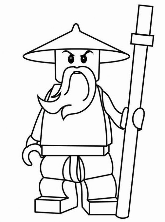 Sensei Wu From Lego Ninjago Coloring Page To Print Out