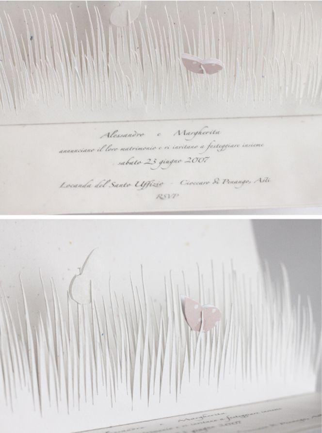 """Partecipazione """"Le farfalle e il giardino""""  Pop up invitation (""""Butterflies"""")"""