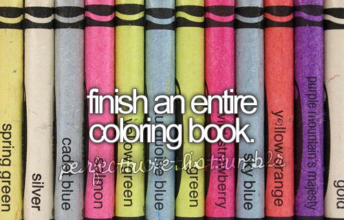 Finish an entire coloring book!