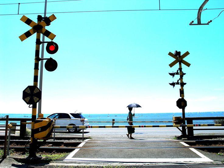 湘南・夏の日/夏/駅/電車/ロケ地/写真/海