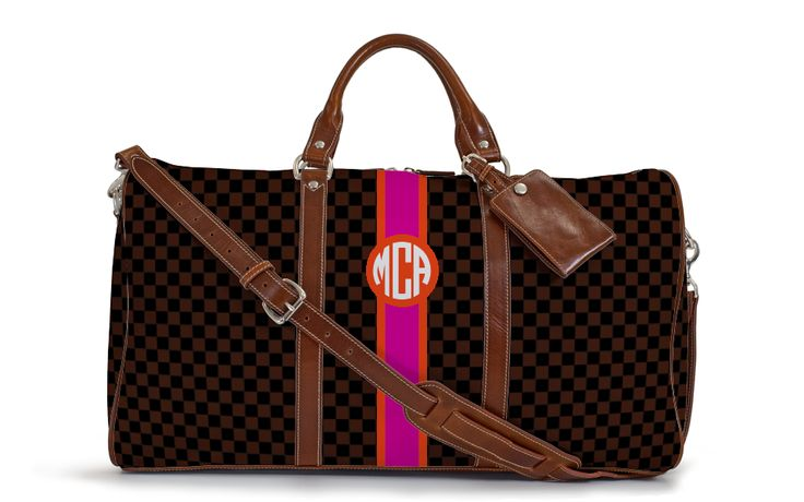 The Belmont Cabin Bag - Fall Monogram Stripe