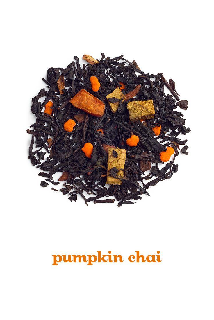 ... black tea spiced with caramel, pumpkin candies, cinnamon and cloves