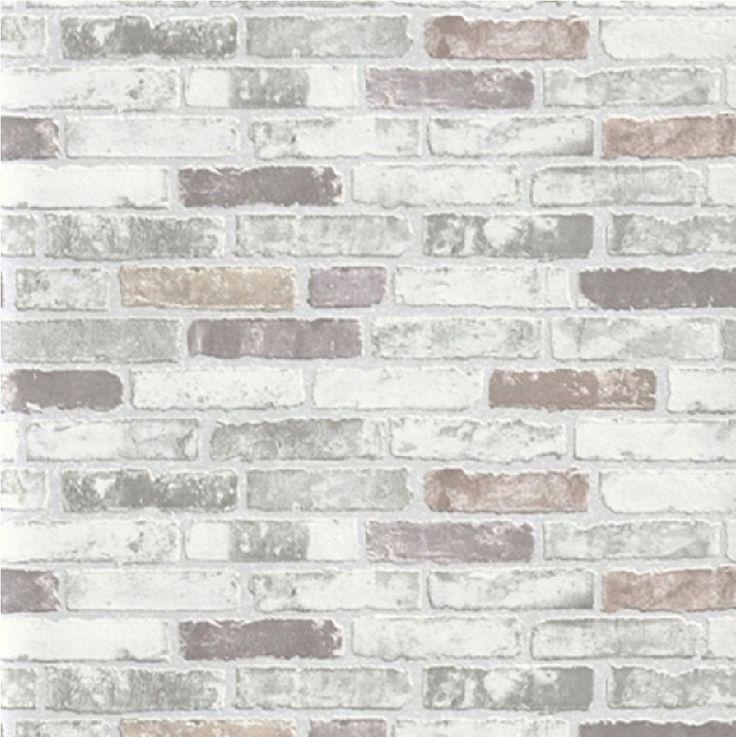 NEW LUXURY ERISMANN BRIX GREY BRICK WALL EFFECT EMBOSSED TEXTURED VINYL WALLPAPER 6703-10: Amazon.co.uk: Kitchen  Home