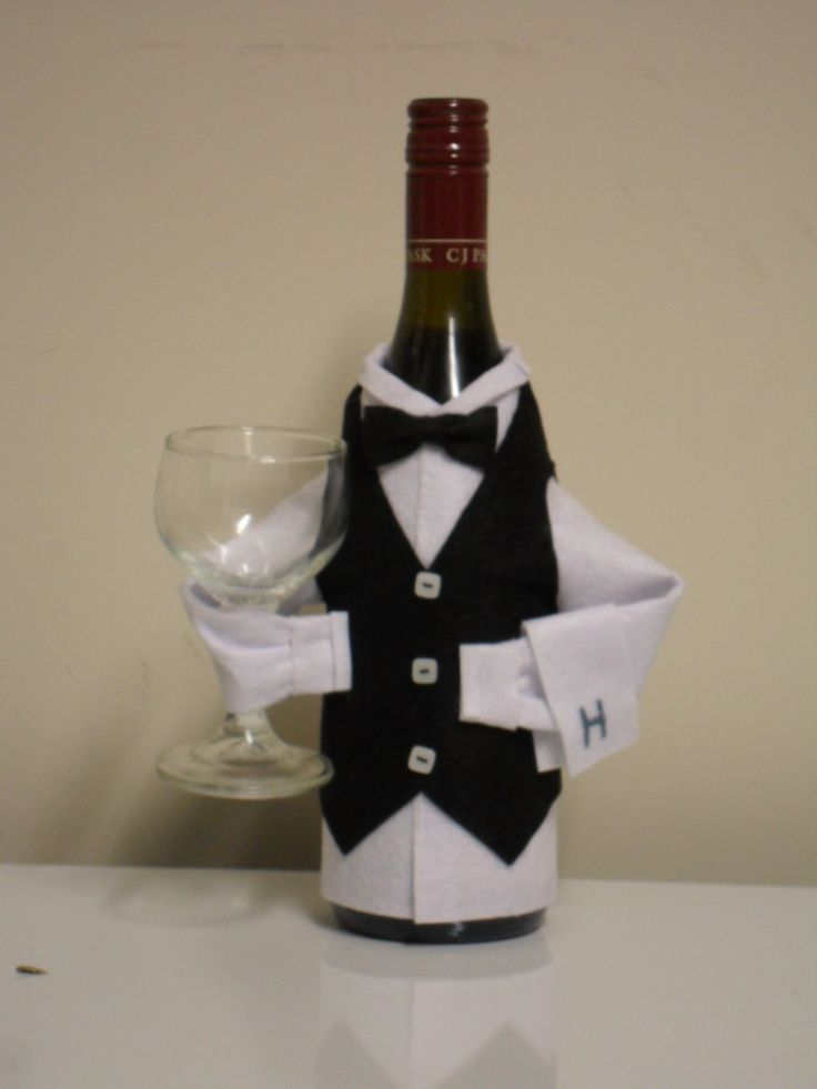 Wine bottle waiter | no-sew project