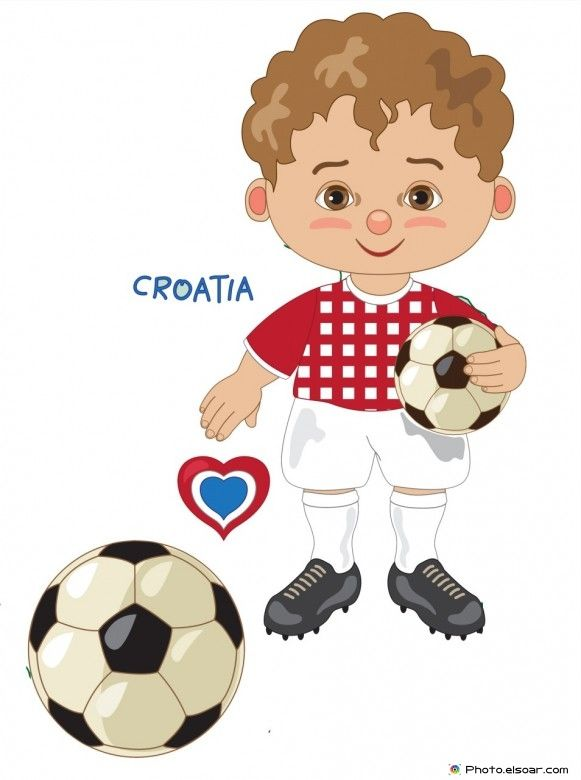 Croatia National Jersey, Cartoon Soccer Player