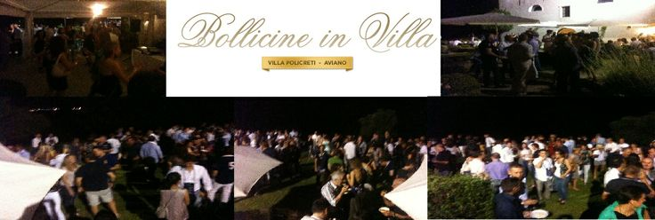 Friday, 20 june 2014, appointment at Rist. Hotel #VILLA #POLICRETI Golf Club, CASTELLO di #AVIANO (PN), for the event #Bollicine in Villa!  We will be there with our wines Valdobbiadene Prosecco Superiore DOCG Extra Dry, Brut e Millesimato Dry