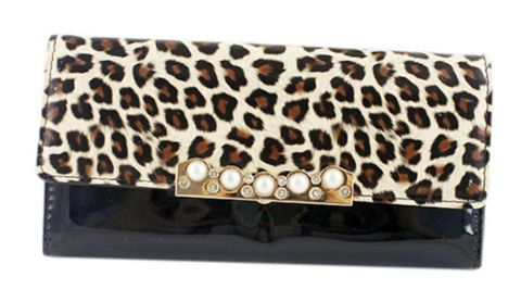Fashion Women's Clutch Wallet With Leopard Print