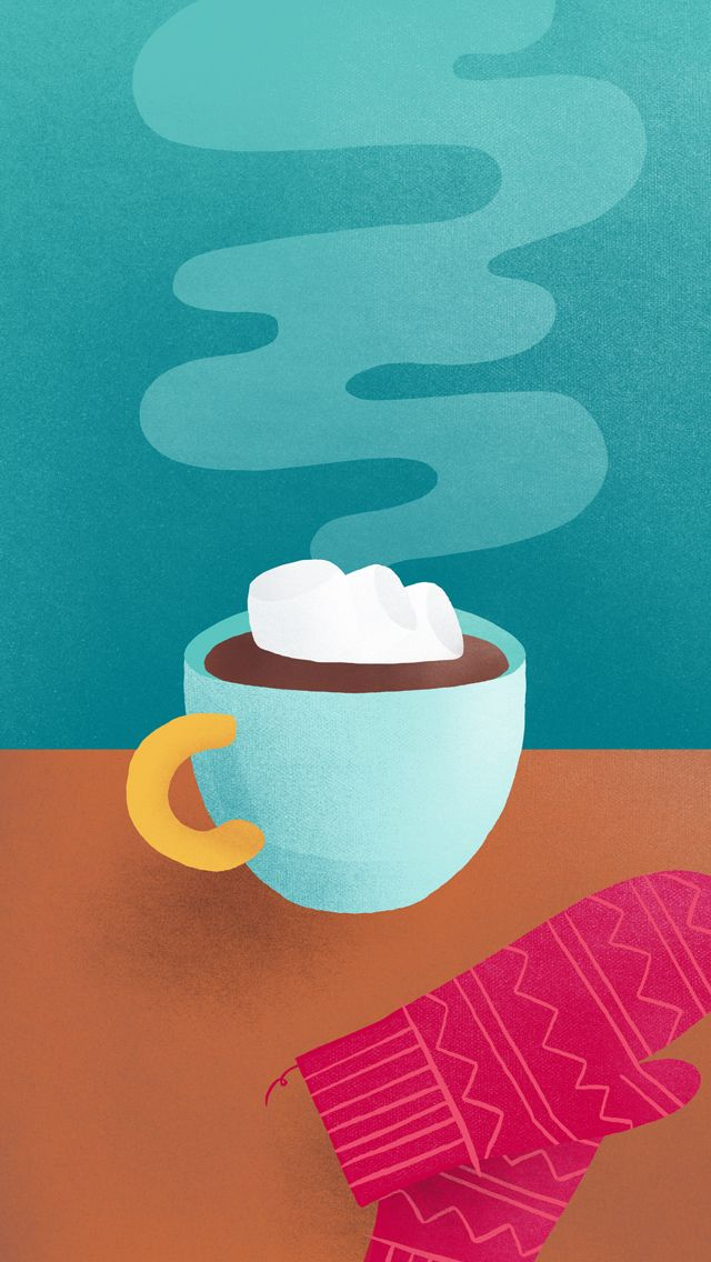 Hot Chocolate with Marshmallows ★ Download more Winter themed iPhone Wallpapers at @prettywallpaper