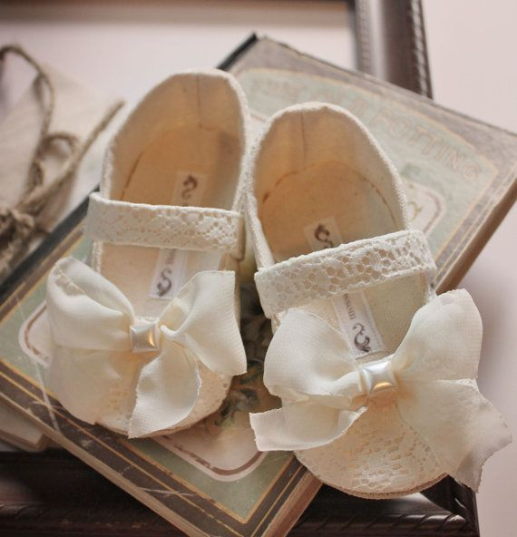 Baby Girl ShoesToddler Girl Shoes Soft Soled Shoes Wedding Shoes Flower Girl Shoes Cream Shoes Lace Shoes Summer Shoes- Charmaine