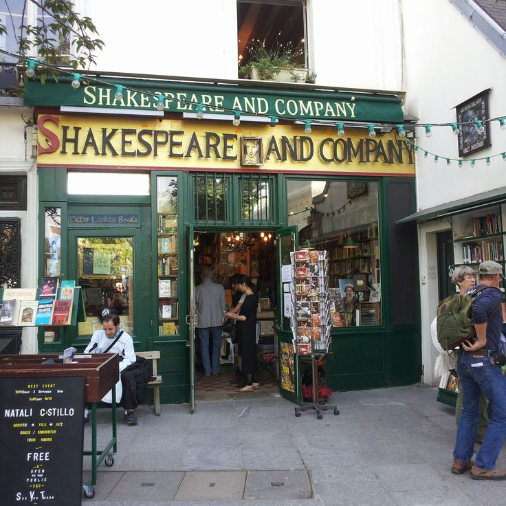 The infamous Shakespeare and Company bookstore, Paris
