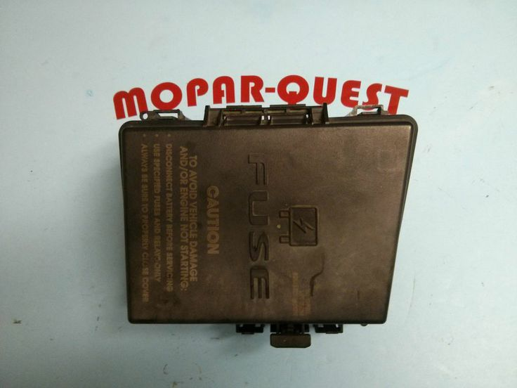 2005 Chrysler Pacifica MODULE. Power Distribution. Fuse