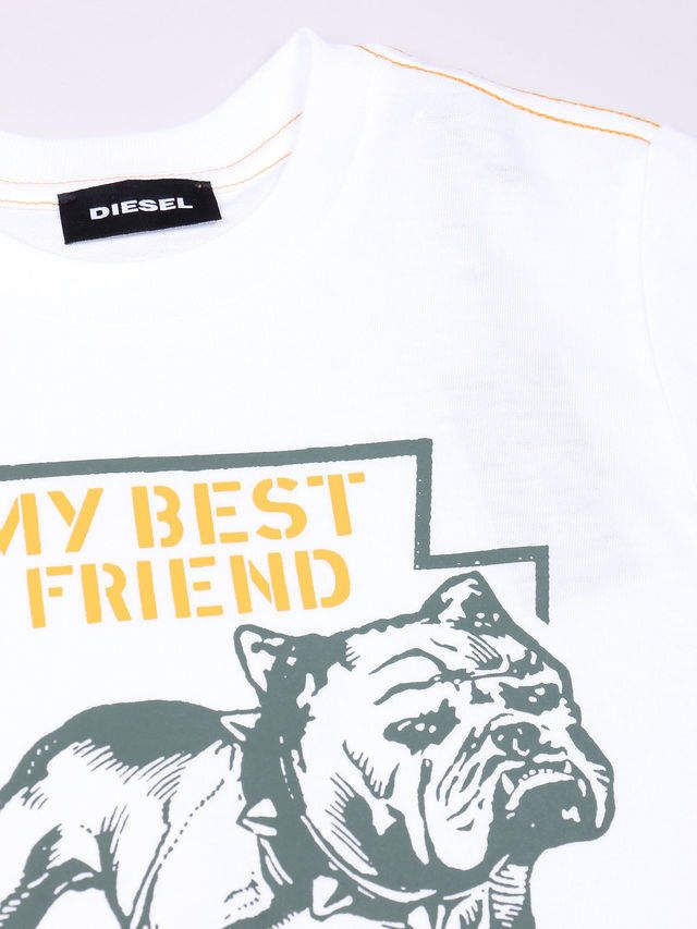KIDS DieselTM T-shirts and Tops 00YI9 - White - 5Y bulldog pit bull boxer best friend toddler and kids tee ad