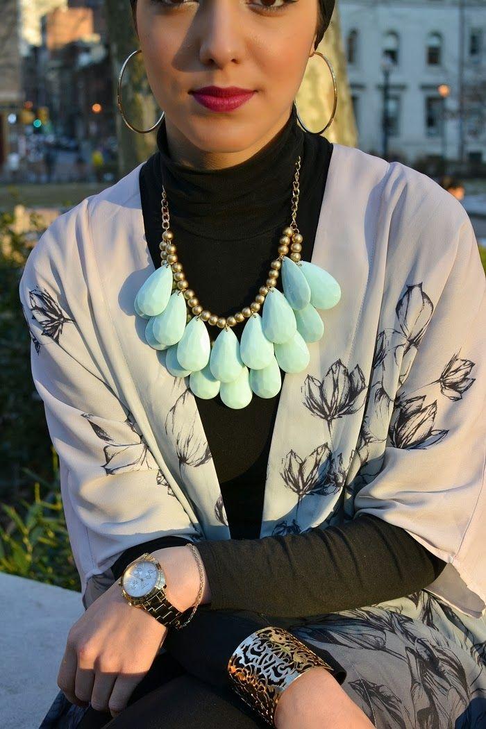 ombre h&m flower top leather trimmed j crew leggings - hijabi - hijabi fashion - hanihulu