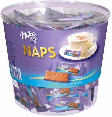 Milka Naps Mix - Schokolade Täfelchen - 1000 Gramm